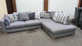 Dfs darwin grey fabric corner sofa immaculate Paid over £2000