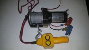 2000 pound 12V Winch. With cables and remote. 2000 LBS. $99