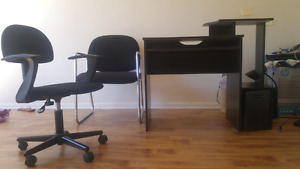 Computer desk with 2 chairs
