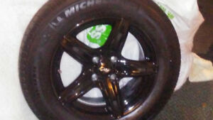 Rims and tire 4x100