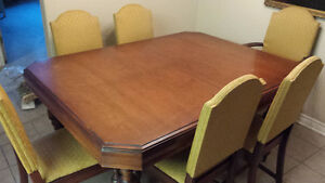 ESTATE SALE DINING ROOM TABLE & CHAIRS