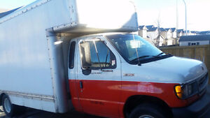 1999 Ford F-350 cube moving van Pickup Truck