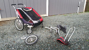 Double Chariot stroller with accessories Comox / Courtenay / Cumberland Comox Valley Area image 1