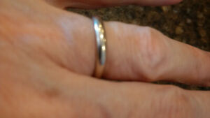 Birks 14k white gold wedding band ..  size 6