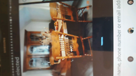 Dining table with 6 chairs sale price £250