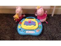 Peppa pig toys. Laptop & talking soft toys.