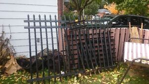 15 - 20 ft Rawd Iron Fence with Gate! London Ontario image 1