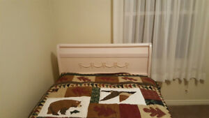 Solid wood Sleigh bed, twin bed