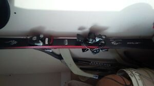 kids downhill skis, boots poles