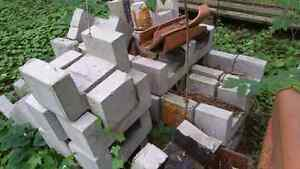 """Concrete chimney blocks and 8"""" clay tiles"""