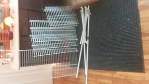 wire shelving / brackets