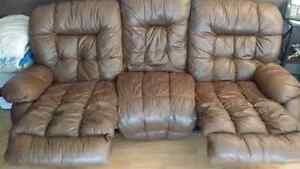 Real leather ..couch and chair