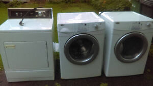 1 Old Kenmore Dryer, 1 Maytag Dryer, 1 Maytag front load Washer