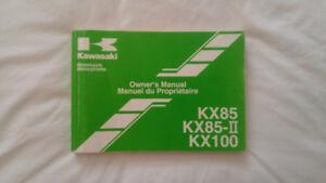 Manuel du propriétaire pour KX85 / KX100 2005