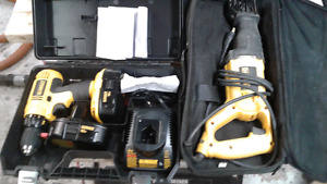 DEWALT   DEAL!!    SAWSALL + DRILL   PACKAGE  FOR 80$