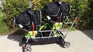 JOOVY BIG CABOOSE DOUBLE/TRIPLE RIDE ON STROLLER