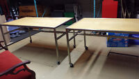 Professional Retail store display tables on Castors
