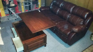 Like Brand New Living Room Suite Real Leather (soft)