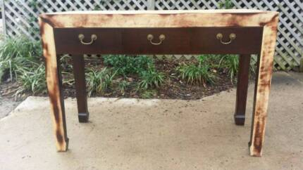 Sideboard Dresser Drawers Hall Table Distressed Timber Coogee Eastern Suburbs Preview