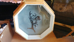 Octagon wooden window