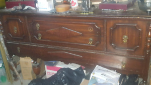 Antique sideboard and matching hutch.