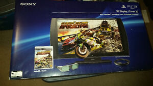 """24"""" Sony 3D TV/Monitor With 3D Glasses and 1 Game"""