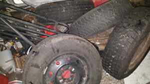 SNOW TIRES WITH RIMS (4) FROM.HONDA ELEMENT