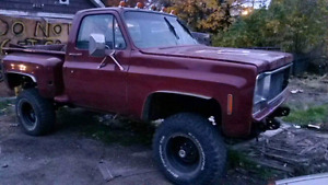 1976 Chevy stepside 4x4 cummins project
