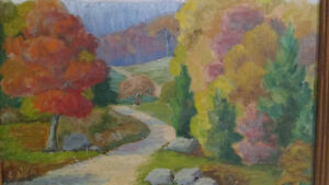 """Jean Chandler """"Autumn Huntsville"""" Oil on Board North Shore Greater Vancouver Area image 5"""
