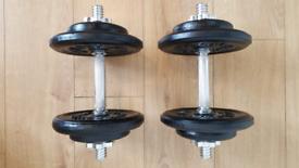 2X15 KG Dumbbells - Weight - Plates - Dumbells - Exercise