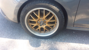 "18"" tires and rims off a vw 245/40R18"