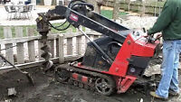 Mini excavation (Buckets,backhoe,Post hole Auger, Trencher)