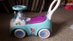 Frozen themed push car