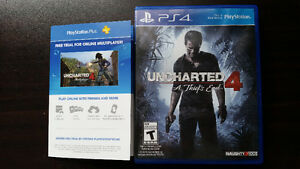 Uncharted 4 + abonnements gratuits