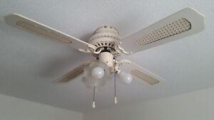 Ventilateur de plafond blanc 4 pales