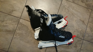 Hockey skates size 42 with adjustable blade guards