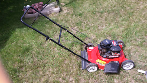 Rona red lawn mower