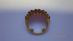 LADIES YELLOW GOLD RUBY AND DIAMOND RING Peterborough Peterborough Area image 6
