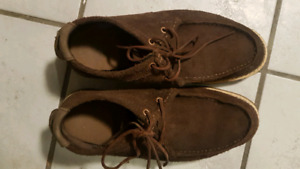 CATEPILLAR MENS SIZE 9 SHOE BROWN LEATHER