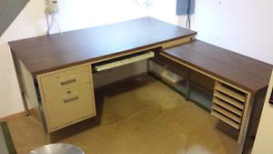 Big spacious sturdy metal desk