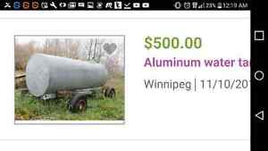Water tank trailer, missed your add by one day