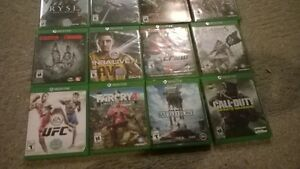 pile of Xbox one games