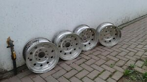 "3 sets of rims 14"" 15"" 16"""