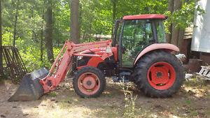 Deluxe Kubota M7040 with loader and backhoe