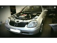 98 Mercedes slk 230 kompressor breaking