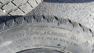 Cooper Studed Winter Tires with Steel Rims 205/60R16 St. John's Newfoundland image 2