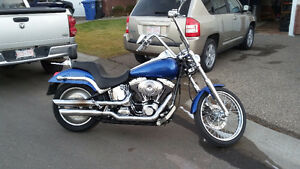 Looking to trade my  harley softail on a c3 corvette