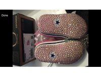 Custom baby crib shoes converse