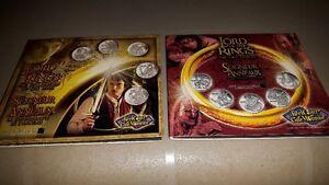 Ensemble de pièces de monnaie du seigneur des anneaux