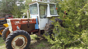 1370 White Tractor, Cab, Loader, Snow Blower and Chains